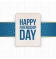 Happy Friendship Day Sale special Label vector image vector image