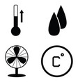 heating icon set vector image vector image