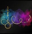 hookah golden design for relaxation vector image vector image