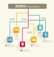 infographic business workflow template vector image