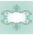 jewelry pattern frame vector image vector image