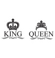 king and queen crowns design vector image vector image