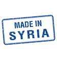 made in Syria blue square isolated stamp vector image vector image