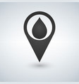 map pointer with water drop icon vector image