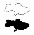 maps of ukraine vector image vector image