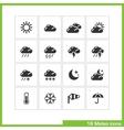 Meteo icon set vector image
