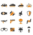 Military and war icons vector image
