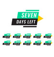 modern number days left tags vector image vector image