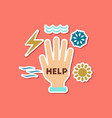 paper sticker on stylish background of nature hand vector image vector image
