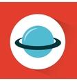 planet saturn design vector image