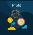 profit flat concept icon vector image
