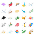 radio-controlled toy icons set isometric style vector image vector image