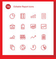report icons vector image vector image