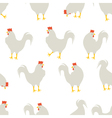 rooster pattern white vector image vector image