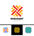rotate top graph logo business analytics chart vector image