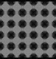 seamless abstract black and white ring pattern vector image vector image