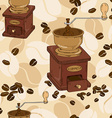 seamless pattern coffee grinder vector image