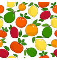 seamless pattern of ripe citrus fruits vector image