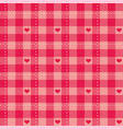 seamless sweet pink background with hearts vector image