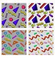 set memphis patterns vector image vector image