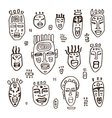 Set of African masks vector image vector image