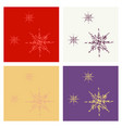 set of snowflake icon sign design red background vector image vector image