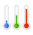 simple style color thermometer icon set vector image vector image