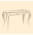Sketched table vector image vector image