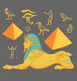 sphinx egyptian mythical creature with head vector image