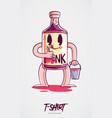 stylish bottle alcohol print on t-shirts vector image vector image