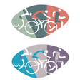 swimmer cyclist runner vector image vector image