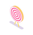 target icon isolated accuracy concept vector image vector image