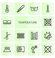 temperature icons vector image vector image