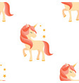 unicorn with closed eyes pink mane seamless vector image