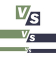versus logo vs letters competition icon fight vector image vector image