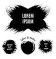 Hand-drawn grunge logo designs vector image