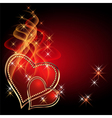 burning two hearts vector image