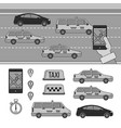 app for booking taxi line monochrome vector image vector image