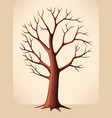 Bare brown tree vector image vector image