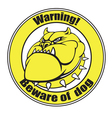 beware dog vector image