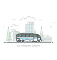 big city bus vector image vector image