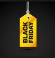 black friday label black friday sale tag vector image