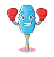 boxing feather duster character cartoon vector image vector image