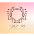 brown color oval frame in modern style wi vector image