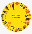 Building company emblem vector image vector image