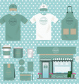 Cafe Shop Set Vintage Style can be used for Layout vector image vector image