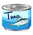 Canned food with tuna inside vector image vector image