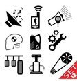 car part icon set 12 vector image vector image
