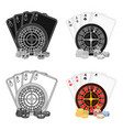 casino single icon in cartoon stylecasino vector image vector image