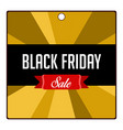colored black friday label vector image